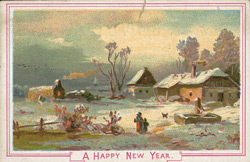 Happy New Year card from Messrs Clifford & Co, Confectioners